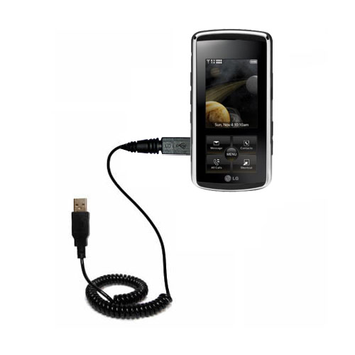 Coiled USB Cable compatible with the LG Venus