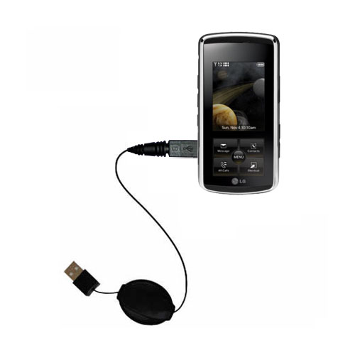Retractable USB Power Port Ready charger cable designed for the LG Venus and uses TipExchange