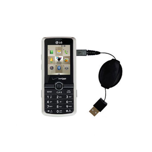 Retractable USB Power Port Ready charger cable designed for the LG VX7100 and uses TipExchange