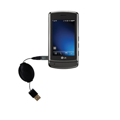 Retractable USB Power Port Ready charger cable designed for the LG VX9700 and uses TipExchange