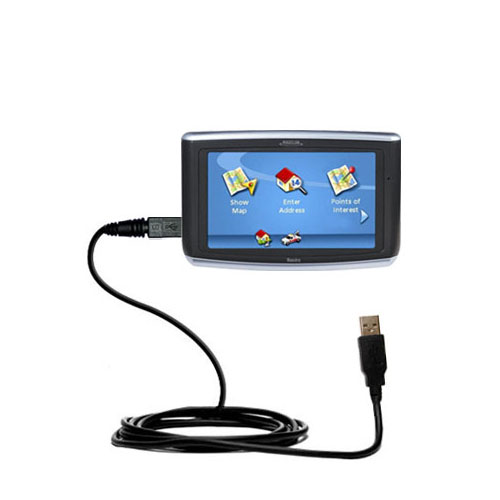 Classic Straight USB Cable suitable for the Magellan Maestro 3200 with Power Hot Sync and Charge Capabilities - Uses Gomadic TipExchange Technology