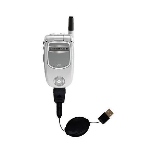 Retractable USB Power Port Ready charger cable designed for the Motorola i730 and uses TipExchange