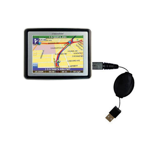 Retractable USB Power Port Ready charger cable designed for the Nextar X3-T and uses TipExchange