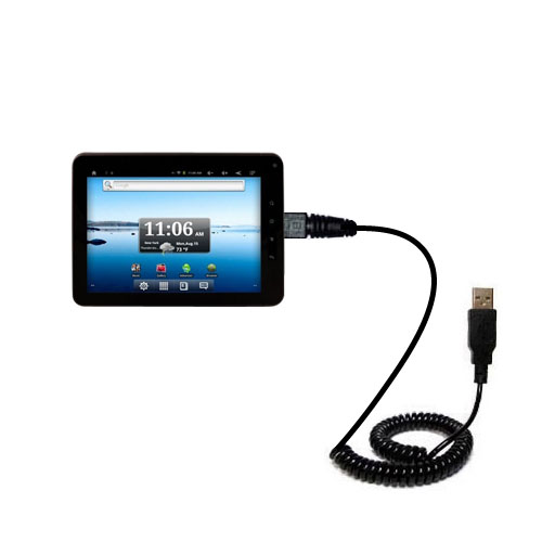 Coiled USB Cable compatible with the Nextbook Premium8 Tablet