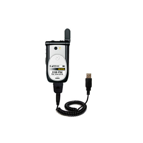 Coiled USB Cable compatible with the Nextel i920 i930