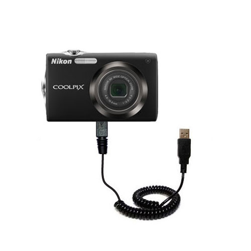 Gomadic Classic Straight USB Data sync Cable suitablefor The Nikon Coolpix D5000 Uses TipExchange Technology