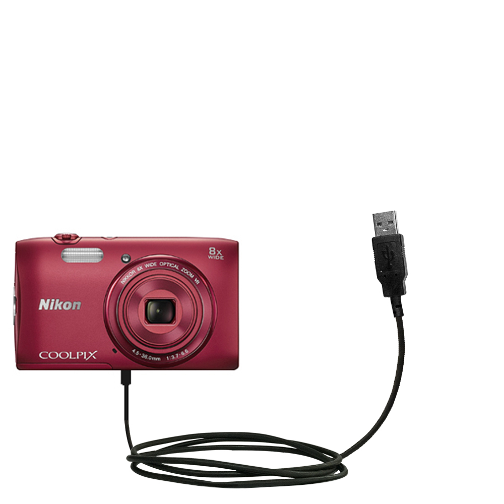 Gomadic Classic Straight USB Cable suitable for the Nikon Coolpix S3600 with Power Hot Sync and Charge Capabilities Uses TipExchange Technology