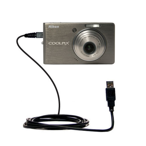 USB Data Cable compatible with the Nikon Coolpix S500