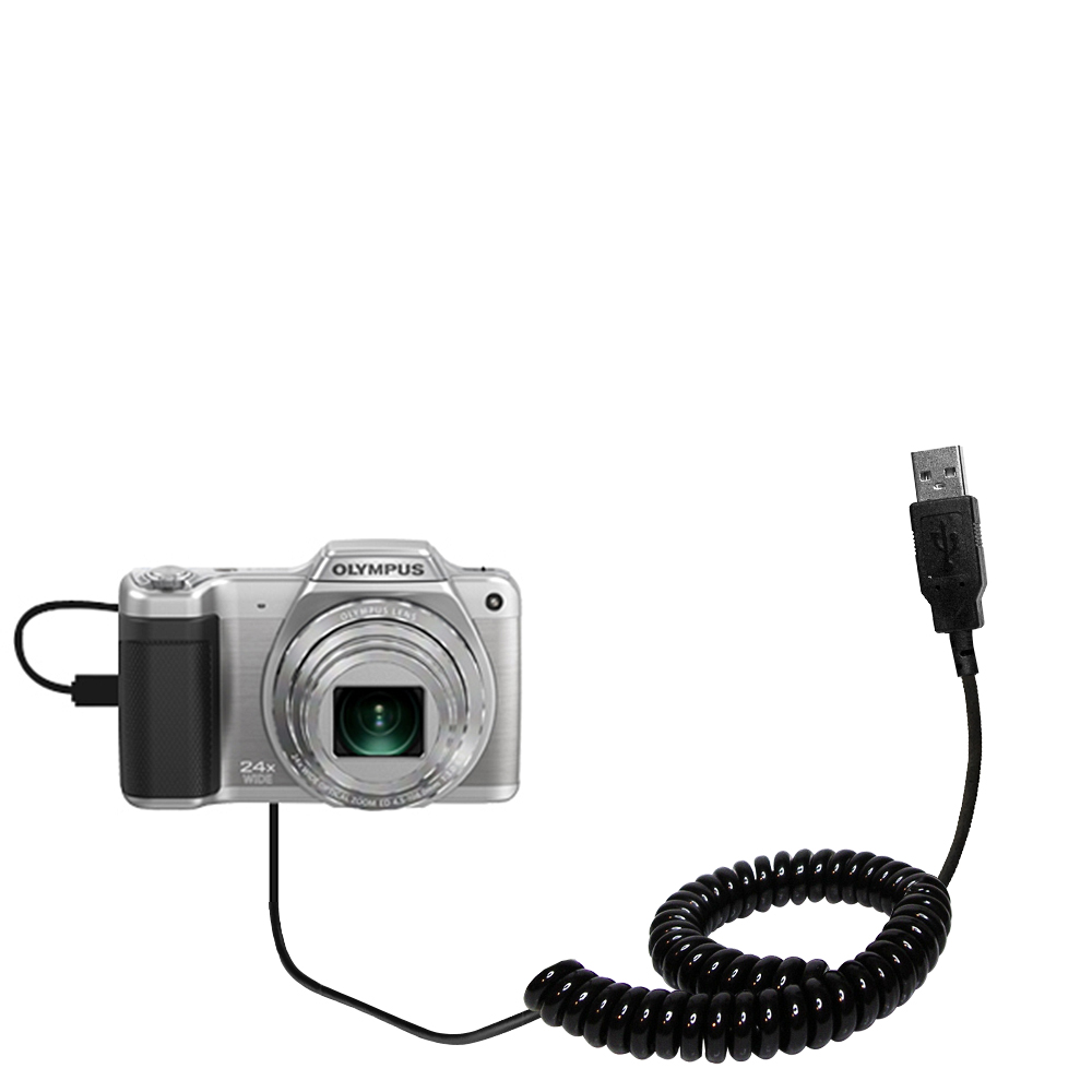 Built TipExchange Technology Gomadic Hot Sync and Charge Straight USB Cable Compatible with Olympus SZ-15 Charge and Data Sync with The Same Cable