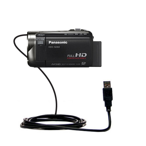 Compact and Retractable USB Power Port Ready Charge Cable Designed for The Panasonic HDC-TM55 Video Camera and uses TipExchange