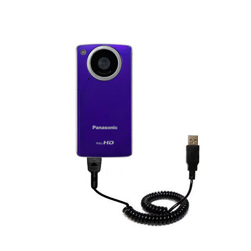Coiled USB Cable compatible with the Panasonic HM-TA1V Digital HD Camcorder