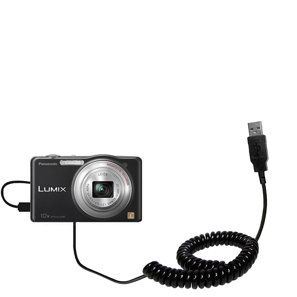 Coiled USB Cable compatible with the Panasonic Lumix DMC-SZ1K