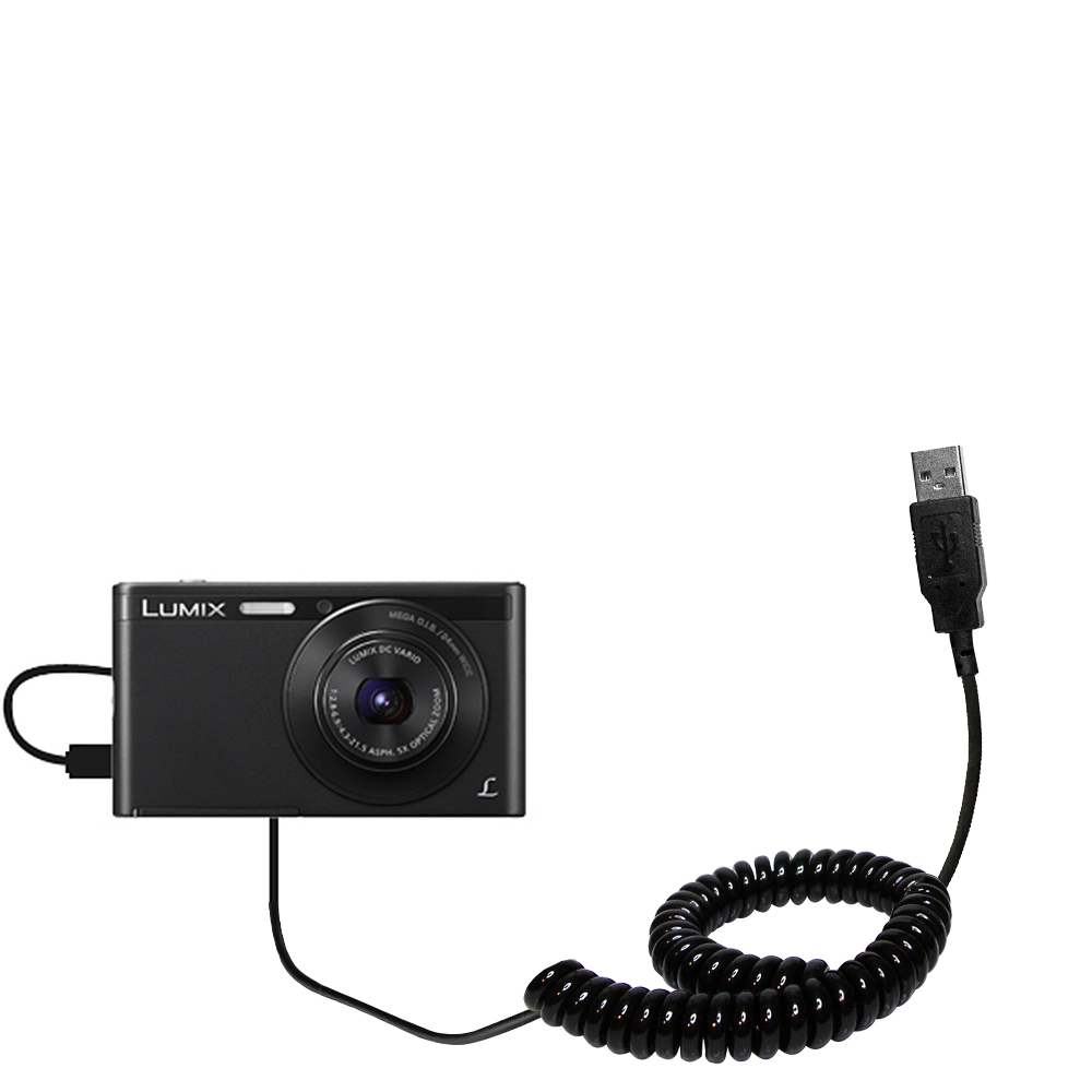 Coiled USB Cable compatible with the Panasonic Lumix DMC-XS1K