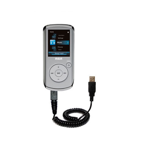 Coiled USB Cable compatible with the RCA M4108 Digital Music Player