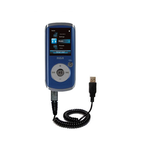 Coiled USB Cable compatible with the RCA M4204 OPAL Digital Media Player