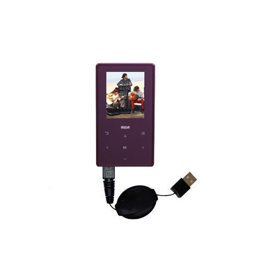 Retractable USB Power Port Ready charger cable designed for the RCA M6308 and uses TipExchange