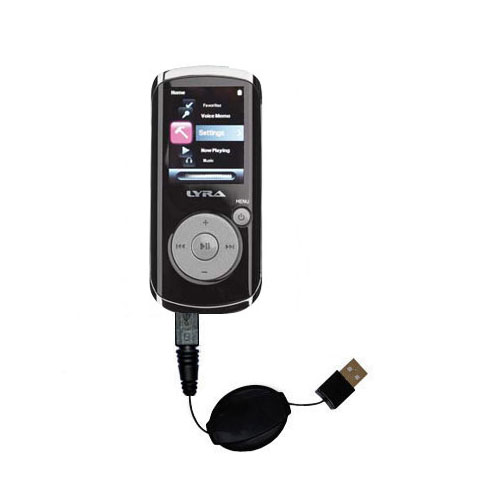 Retractable USB Power Port Ready charger cable designed for the RCA MC4204 OPAL Digital Media Player and uses TipExchange