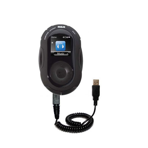 Coiled USB Cable compatible with the RCA SC2204 JET Digital Audio Player