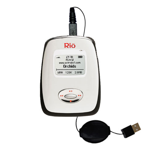 Retractable USB Power Port Ready charger cable designed for the Rio Carbon and uses TipExchange