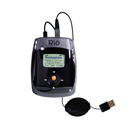 Retractable USB Power Port Ready charger cable designed for the Rio Nitrus and uses TipExchange