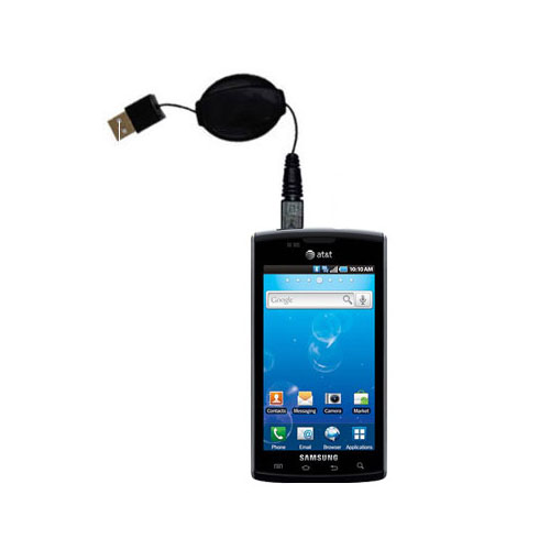 Retractable USB Power Port Ready charger cable designed for the Samsung Captivate and uses TipExchange