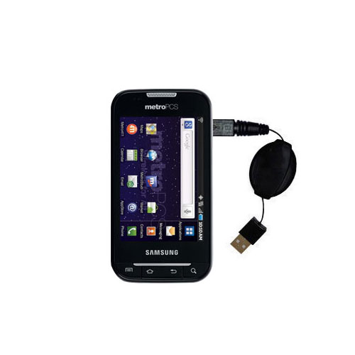 Compact and retractable USB Power Port Ready charge cable designed for the Samsung Galaxy Indulge and uses TipExchange
