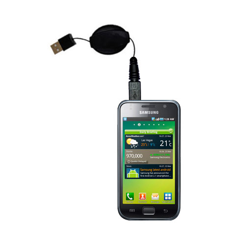 Retractable USB Power Port Ready charger cable designed for the Samsung Galaxy S and uses TipExchange