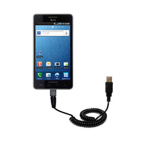 Coiled USB Cable compatible with the Samsung Infuse 4G