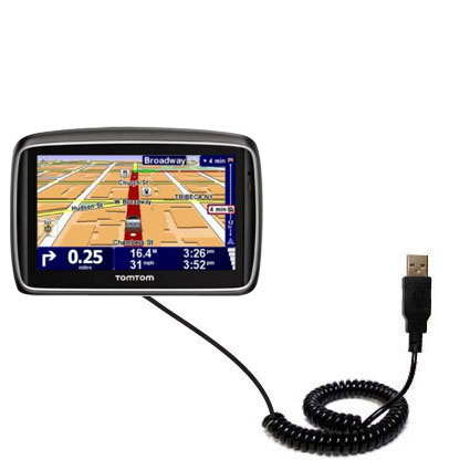 Coiled USB Cable compatible with the TomTom 740