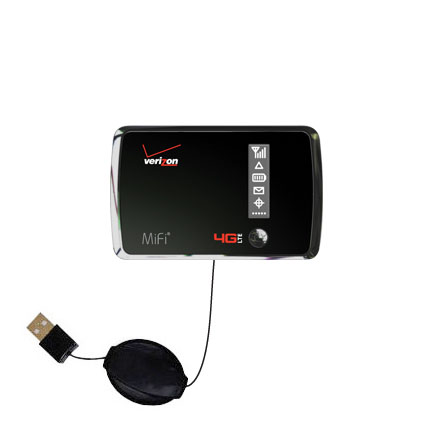 Retractable USB Power Port Ready charger cable designed for the Verizon 4G LTE MIFI 4510L and uses TipExchange