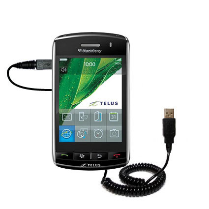 Coiled USB Cable compatible with the Verizon Storm