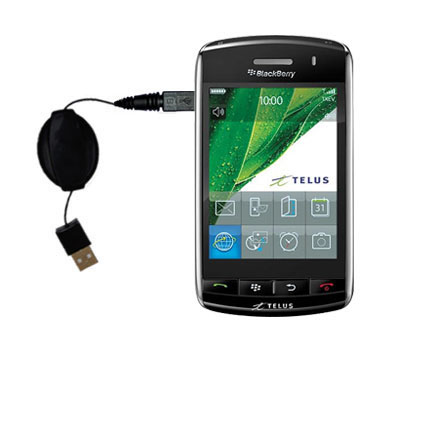Retractable USB Power Port Ready charger cable designed for the Verizon Storm and uses TipExchange