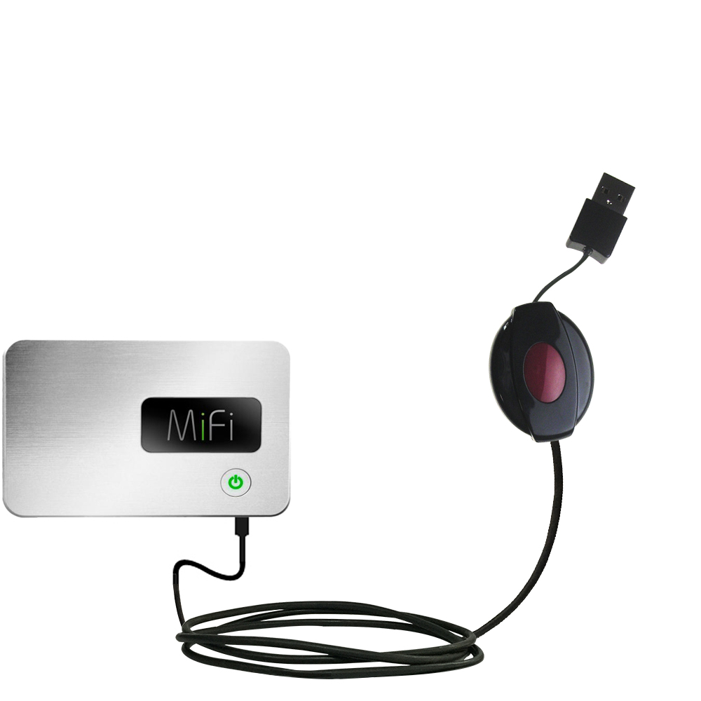 Retractable USB Power Port Ready charger cable designed for the Walmart Internet on the Go and uses TipExchange