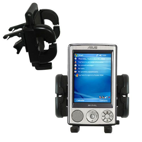 Vent Swivel Car Auto Holder Mount compatible with the Asus MyPal A632 A636