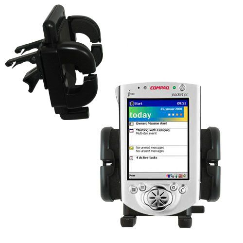 Vent Swivel Car Auto Holder Mount compatible with the Compaq iPAQ h3600 Series
