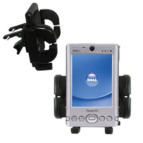 Vent Swivel Car Auto Holder Mount compatible with the Dell Axim x3i