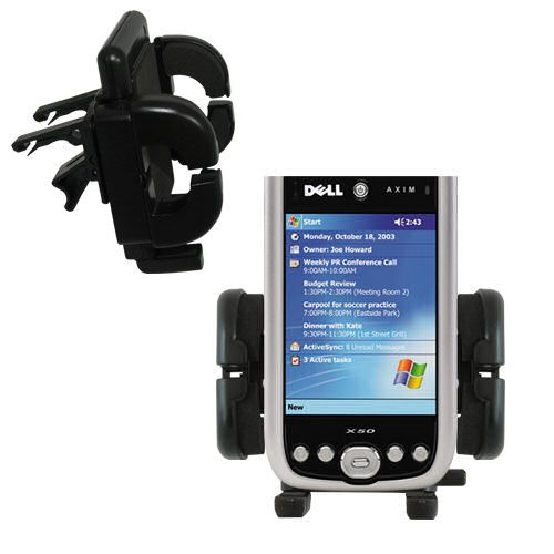 Vent Swivel Car Auto Holder Mount compatible with the Dell Axim X50 X50v