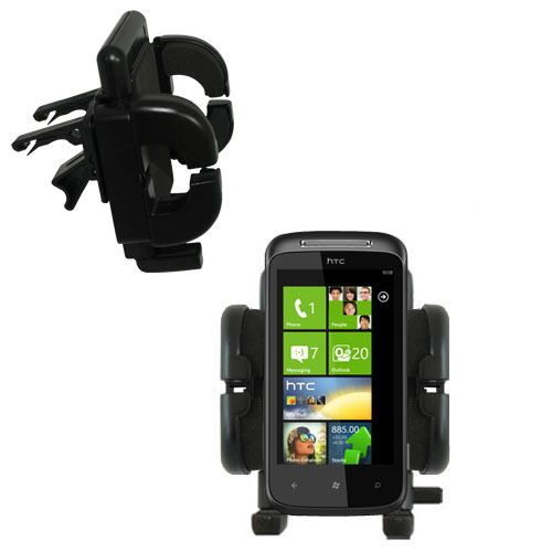 Vent Swivel Car Auto Holder Mount compatible with the HTC 7 Mozart
