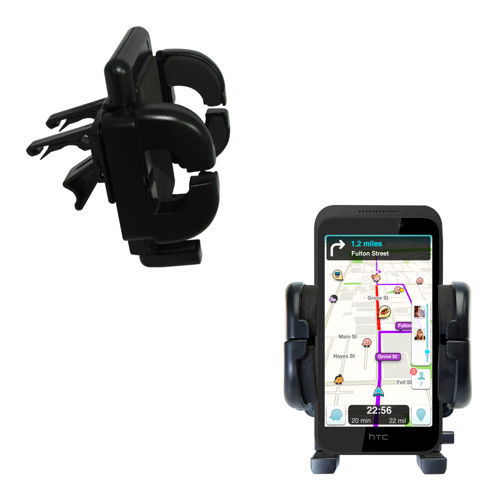 Vent Swivel Car Auto Holder Mount compatible with the HTC Desire 320