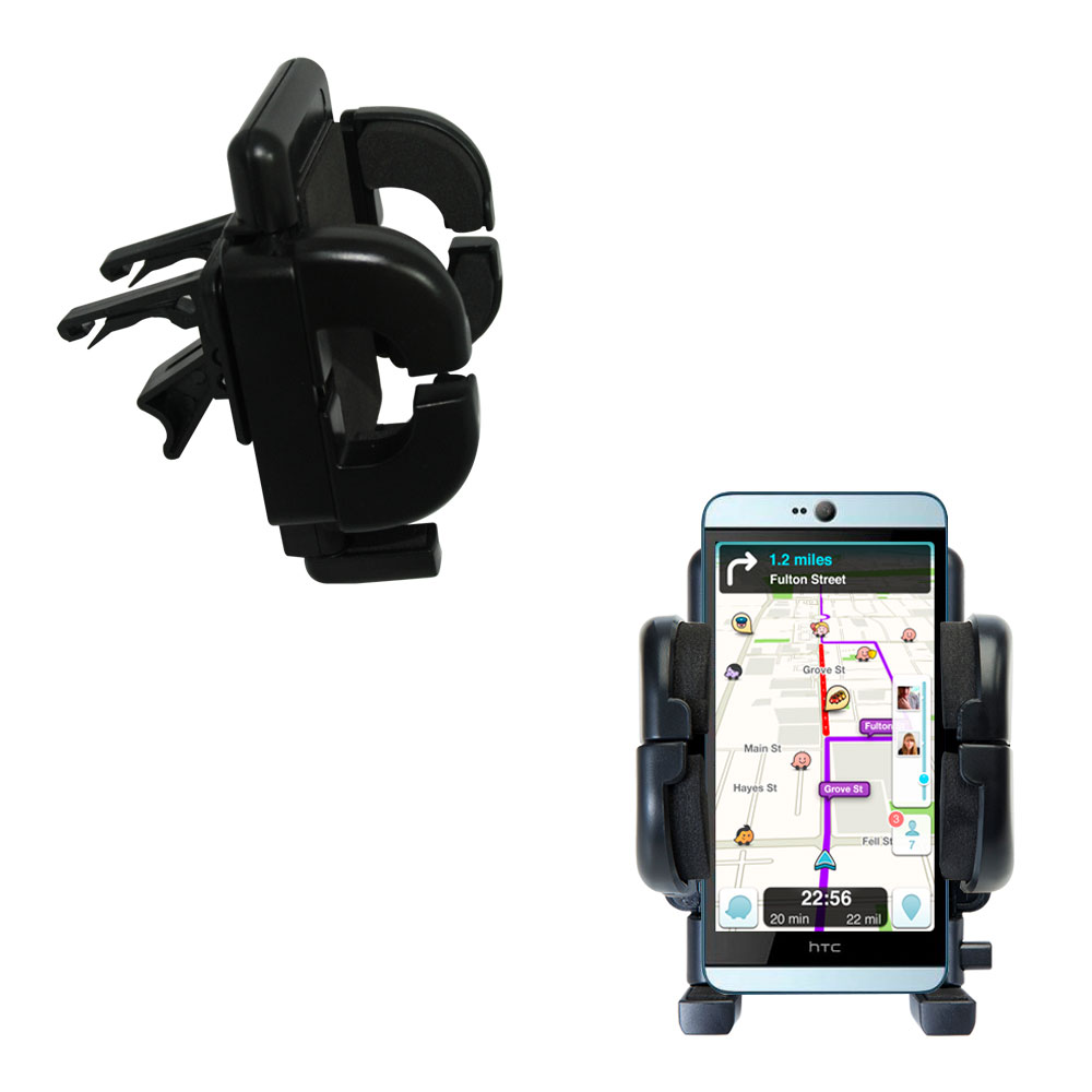 Vent Swivel Car Auto Holder Mount compatible with the HTC Desire 826