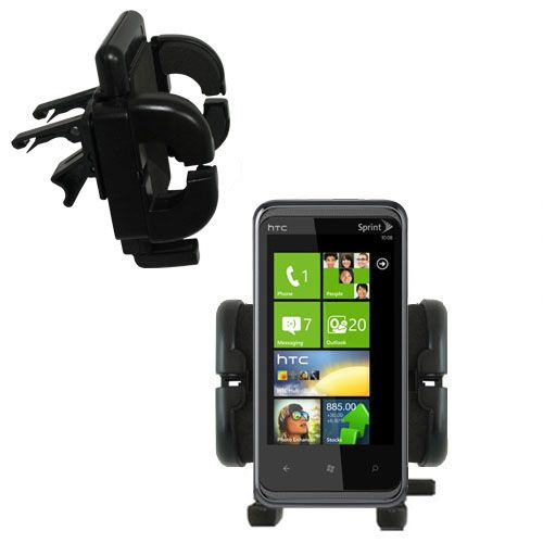 Gomadic Air Vent Clip Based Cradle Holder Car / Auto Mount suitable for the HTC Eternity - Lifetime Warranty