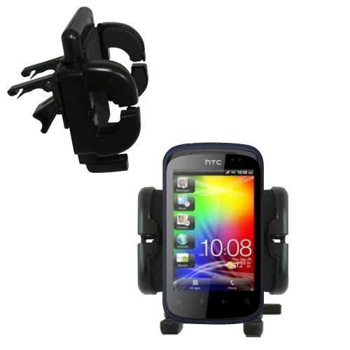 Vent Swivel Car Auto Holder Mount compatible with the HTC Explorer