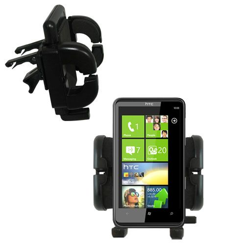 Vent Swivel Car Auto Holder Mount compatible with the HTC HD7S