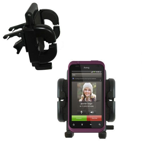 Vent Swivel Car Auto Holder Mount compatible with the HTC Rhyme