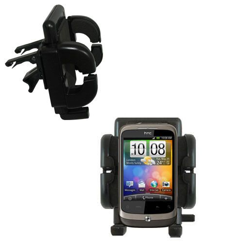 Gomadic Air Vent Clip Based Cradle Holder Car / Auto Mount suitable for the HTC Wildfire - Lifetime Warranty