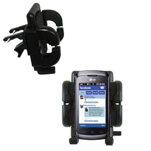 Vent Swivel Car Auto Holder Mount compatible with the LG Cookie Music