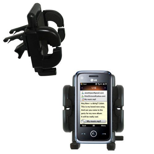 Vent Swivel Car Auto Holder Mount compatible with the LG GM730