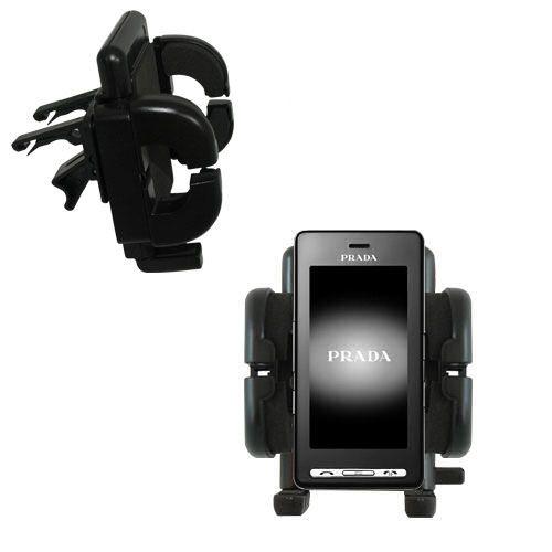 Vent Swivel Car Auto Holder Mount compatible with the LG KE850 Prada