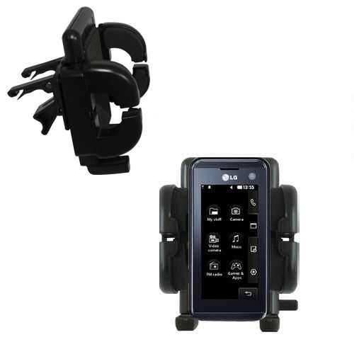 Vent Swivel Car Auto Holder Mount compatible with the LG KF700 / FG-700