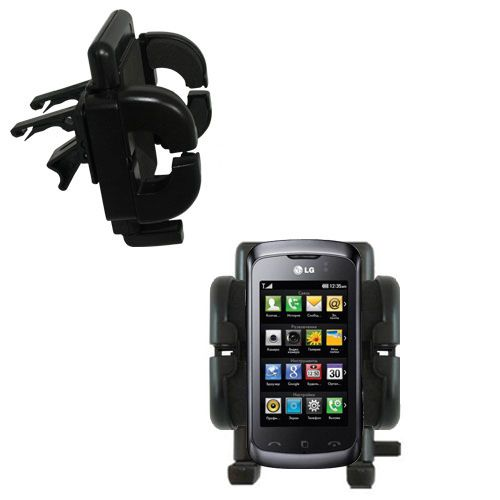 Vent Swivel Car Auto Holder Mount compatible with the LG KM555E
